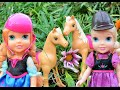 Download Anna and Elsa Toddlers Pony Horse Riding Trail Frozen Elsa and Anna's children kidnapped by Ursula Video