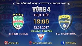 Download FULL | BECAMEX BÌNH DƯƠNG vs FLC THANH HÓA (2-2) | VÒNG 4 V LEAGUE 2017 Video