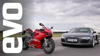 Download Audi R8 V10 v Ducati 1199 Panigale R | evo BATTLE Video