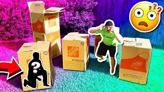 Download MYSTERY BOX FORT HIDE & SEEK CHALLENGE! Video