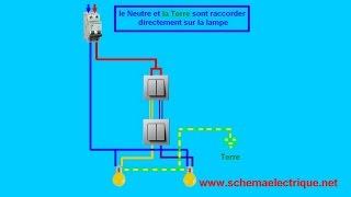 Download schema branchement cablage interrupteur double va et vient Video