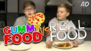 Download GUMMY vs. REAL FOOD w/ FRIEND + BEYBLADE BUILD CHALLENGE Video