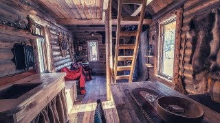 Download Log Cabin Wilderness Homestead, Maple Syrup, Wild Edibles, Primitive Skills Video