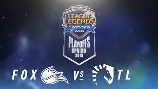 Download FOX vs. TL | NA LCS Spring Playoffs | Semifinals Game 1 | Echo Fox vs. Team Liquid (2018) Video