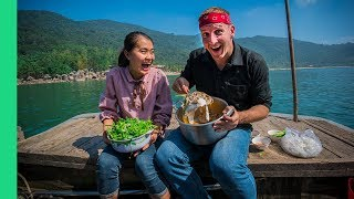Download HOTPOT on a Boat and Discovering Vietnam's WILDEST Fish Market (We found a shark!) Video