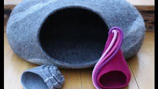 Download Anleitung um eine Katzenhöhle zu filzen - cat cave Video