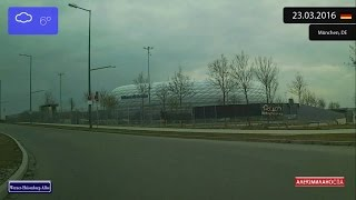 Download Driving through München (Germany) Allianz Arena 23.03.2016 Timelapse x4 Video