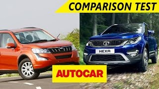 Download Mahindra XUV500 VS Tata Hexa | Comparison Test | Autocar Video