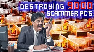 Download Destroying OVER 9000 Computers On Scammer's Network!! Video