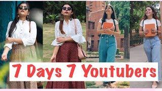 Download I Dressed Like YouTubers For a Week | Bb ki vines , Komal Pandey , Mostlysane, Sejal Kumar Video