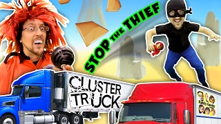 Download TRY 2 STOP ME! HIGH SPEED TRUCK JUMPING PARKOUR CHASE (FGTEEV CLUSTER TRUCK Funny Gameplay Skit) Video