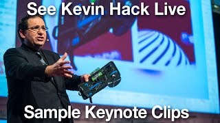Download Kevin Mitnick Sample Speaking Clips and Hacks You'll See Live Video