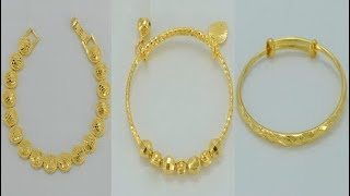 Download Latest Saudi Gold Bracelet designs with weight Video
