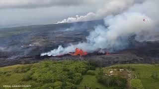 Download Kilauea volcano continues spewing lava Video