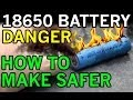 Download Electric Danger of Lithium Ion 18650 - Battery Fires Exposed - Possible DIY Solution Video