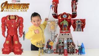 Download BIGGEST Avengers HULKBUSTER Ultimate Figure HQ Transforming Playset Superhero Fun With Ckn Toys Video