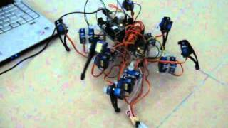 Download Spider Robot using Arduino and Processing... Video