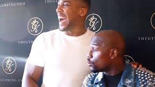 Download FLOYD MAYWEATHER JOKES WITH ANTHONY JOSHUA ABOUT BROOK VS. SPENCE: ″WE BE HAVING THAT SMOKE″ Video