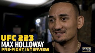 Download UFC 223: Max Holloway Discusses Weight Cut, Ankle Injury, McGregor Rematch, Bruno Mars Well Wishes Video