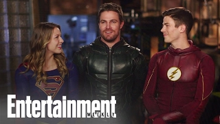 Download CW Superheroes Crossover: Behind The Scenes | Cover Shoot | Entertainment Weekly Video