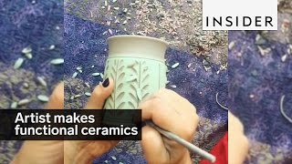 Download This artist makes functional ceramics Video