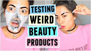 Download TESTING WEIRD BEAUTY PRODUCTS! AGAIN! Video