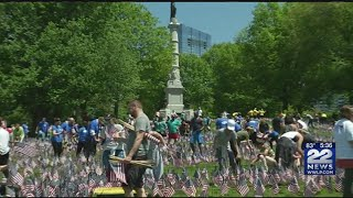 Download Thousands of flags planted in Boston Garden for Memorial Day Video