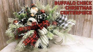 Download DIY Buffalo Plaid Santa Christmas Centerpiece For Mom - Thrift Flip - Christmas 2019 Video
