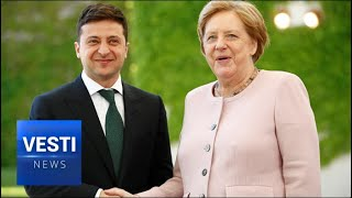 Download Merkel Breaks Down Into Spasms! Ancient Old Politician Unable to Stand For Entire Anthem! Video