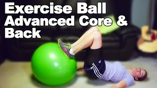 Download Exercise Ball for Core & Back Strengthening (Advanced) - Ask Doctor Jo Video