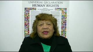 Download Irma García, Argentina, reading article 1 of the UDHR in Spanish Video