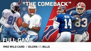 Download 1992 AFC Wild Card: Houston Oilers vs. Buffalo Bills | ″The Comeback″ | NFL Full Game Video
