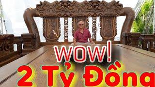 Download Đồ Gỗ Bộ bàn ghế 2 Tỷ Đồng Khủng Lớn Nhất Việt Nam Video