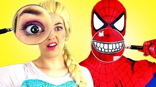 Download Человек паук и замороженные Эльза Bubble Gum вызов Супермен смешной в реальной жизни Человек паук пр Video