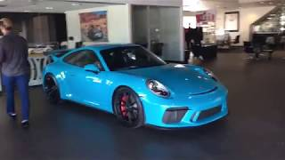 Download Miami Blue 2018 Porsche 911 GT3 With Manual Transmission 991.2 Video