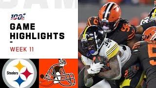 Download Steelers vs. Browns Week 11 Highlights | NFL 2019 Video