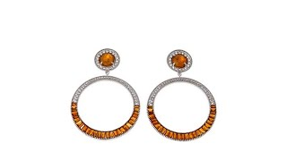 Download Colleen Lopez Gemstone and White Topaz Circle Drop Earri... Video