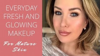 Download Everyday Fresh and Glowing Makeup Tutorial For Mature Skin Over 40 Video