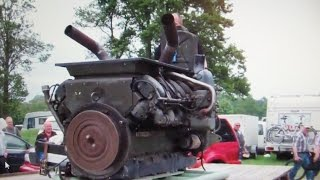 Download M47 Army Tank engine 12 cyl Cold Start !! Oldtimer markt Bockhorn 2015 Video