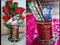 Download Pen pencil stand cum flower pot with useless old bangles DIY Video