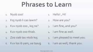 Download Speak Hmong 101 Lesson 1 Video