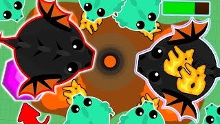 Download BEST BLACK DRAGON REVENGE IN MOPE.IO EVER! SMALL BLACK DRAGON vs BIG BLACK DRAGON! (Mope.io) Video