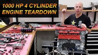 Download 1000 Horsepower 4 Cylinder Engine Teardown Disassembly Video