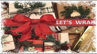 Download *NEW* Gift Wrapping IDEAS and HACKS🎁Christmas Gift Wrap Ideas | Rustic🎄EASY gift wrapping ideas Video