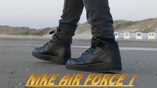 Download Nike Air Force 1 (Black) - On Feet (4K Drone Shot) Video