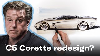 Download Redesigning the soft lines of the Chevrolet C5 Corvette | Foose on Design - Ep. 2 Video