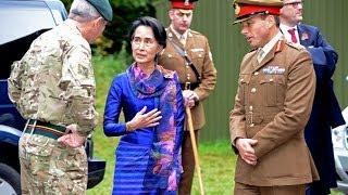 Download Aung San Suu Kyi Visits Sandhurst | Forces TV Video