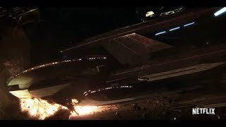 Download Star Trek Discovery - Klingon Ship Crash Into USS Europa - Admiral Ship Self Destruct Video