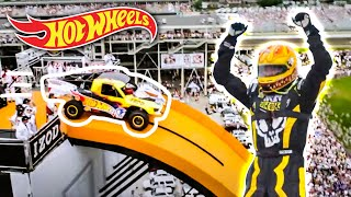 Download Team Hot Wheels - The Yellow Driver's World Record Jump (Tanner Foust) | Hot Wheels Video