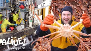 Download Brad Goes Crabbing In Alaska (Part 1) | It's Alive | Bon Appétit Video